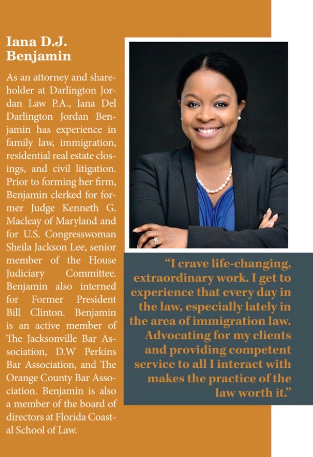 Iana Benjamin is featured in Attorney At Law Magazine's Women in the Law 2018 Edition